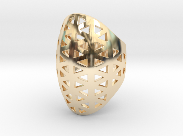 Vértice Ring - Size 7 in 14k Gold Plated Brass