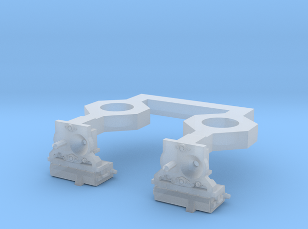 HO N2A Coupler (Dummy) for Commuter MU cars in Smooth Fine Detail Plastic