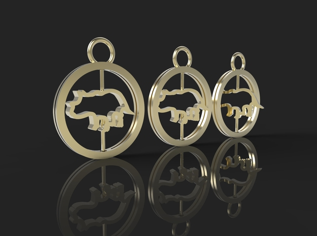 Turning Triceratops Baby Necklace