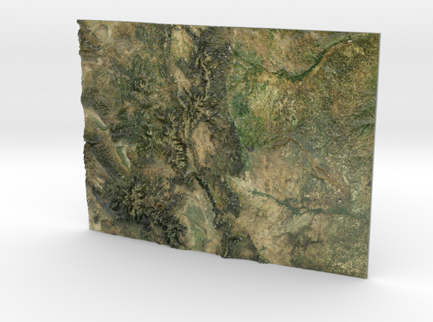 Colorado Map in Coated Full Color Sandstone