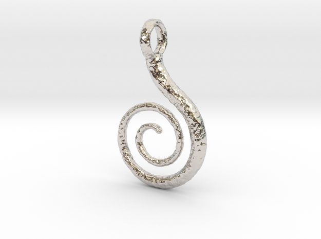 Spiral Pendant Textured 3d printed