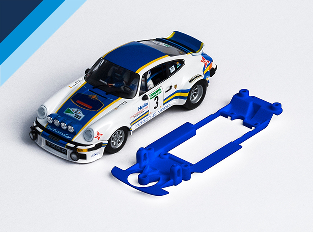 1/32 Fly Porsche 911 / 934 Chassis for Slot.it pod in Blue Strong & Flexible Polished