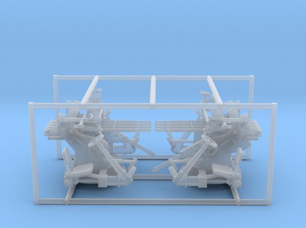 2 X 1/56 IJN Type 93 13.2mm Quad Mount in Smooth Fine Detail Plastic