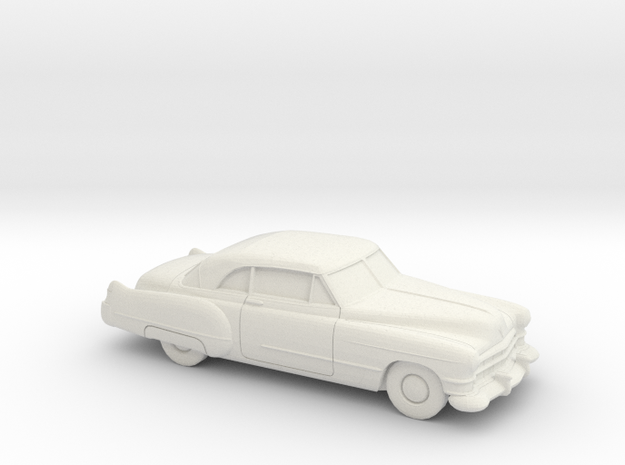 1/87 1949-52 Cadillac Series 62 Coupe in White Natural Versatile Plastic