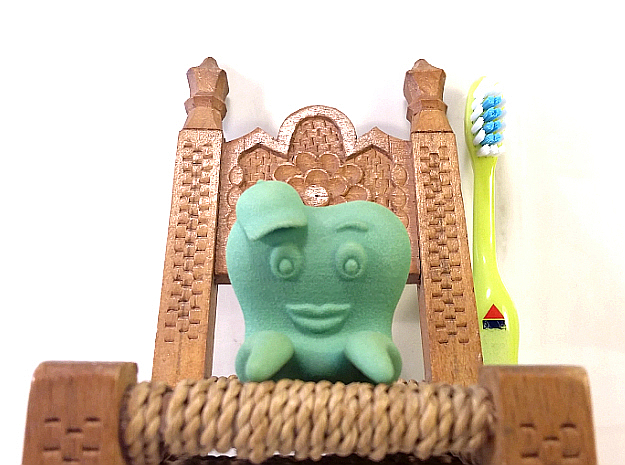 Toothbrush Holder (Boy) in Green Processed Versatile Plastic