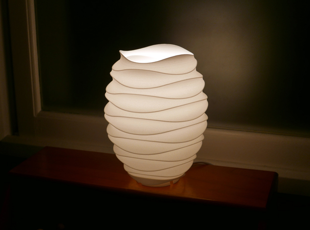 Table Lamp_STL No.2 in White Natural Versatile Plastic