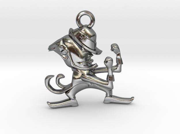 Fighting Irish Pendant in Polished Silver