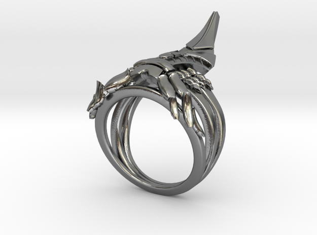 Reaper Ring in Polished Silver: 8 / 56.75