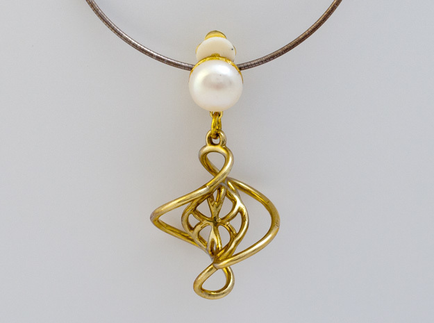 Swirl Pendant in Polished Brass