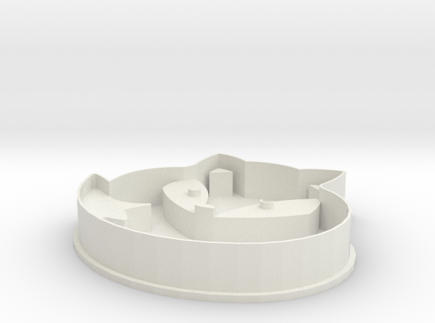 Fox cookie cutter in White Strong & Flexible: Small