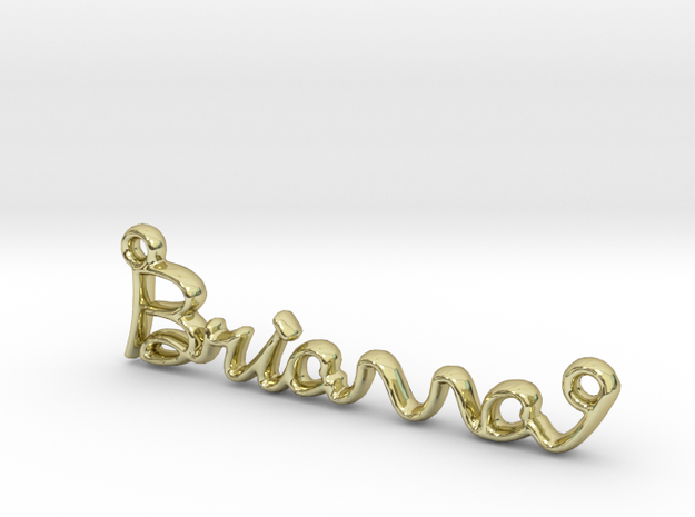 BRIANNA Script First Name Pendant in 18k Gold Plated