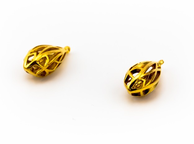 Teardrop shaped earrings 3d printed