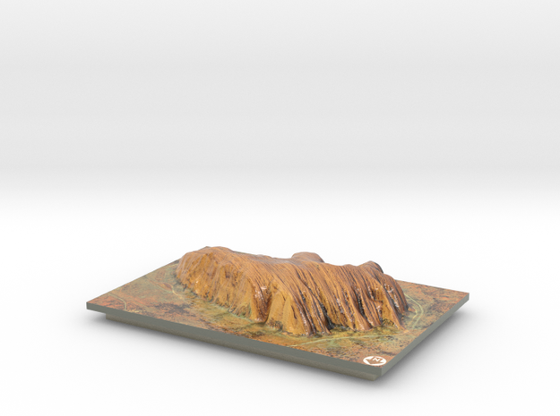 Uluru / Ayers Rock Map in Coated Full Color Sandstone