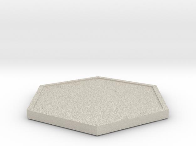Hexagon Coaster in Natural Sandstone