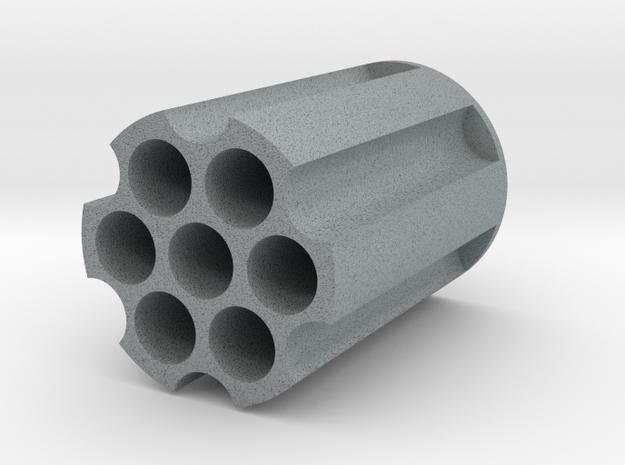 Revolver Cylinder Pencil Holder in Polished Metallic Plastic