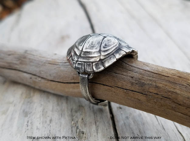 Turtle Ring in Raw Silver: 7 / 54