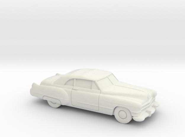 1/87 1949-52 Cadillac Eldorado Convertible in White Natural Versatile Plastic