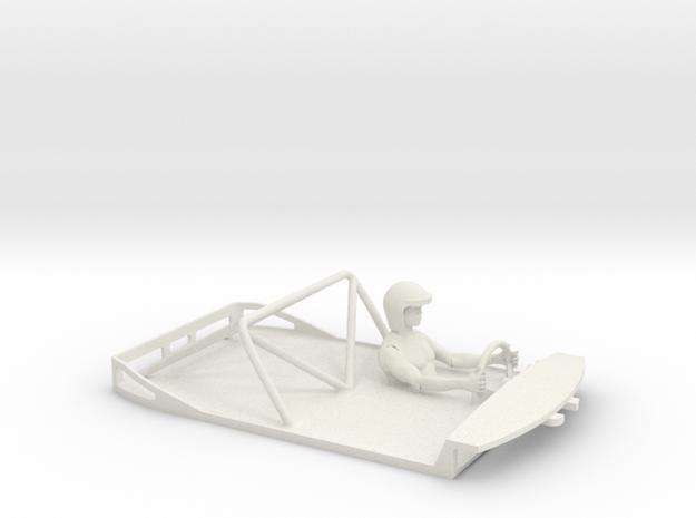 Scalextric '69 Camaro Cockpit in White Natural Versatile Plastic