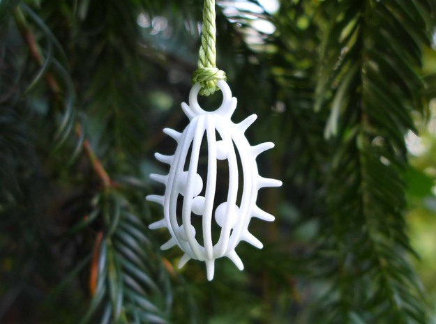 Tetrahymena Ornament - Science Gift in White Processed Versatile Plastic