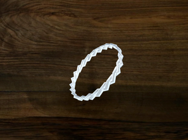 Turk's Head Knot Ring 2 Part X 24 Bight - Size 26. 3d printed