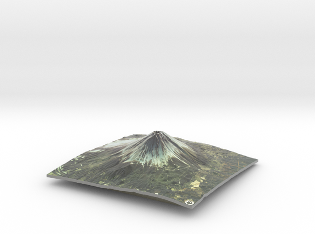 Mt. Fuji Map in Coated Full Color Sandstone