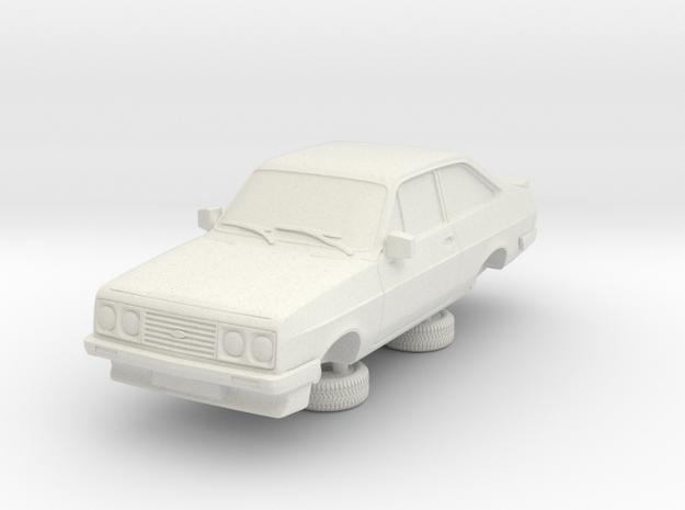 1:87 escort mk 2 2 door rs2000 in White Natural Versatile Plastic