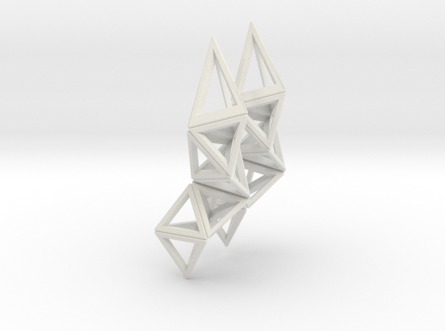 CRYSTAL - earrings 3d printed Crystal in black