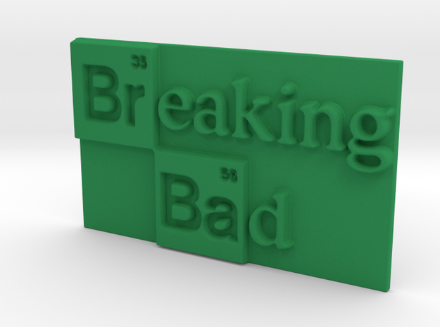 Breaking Bad Logo in Green Processed Versatile Plastic