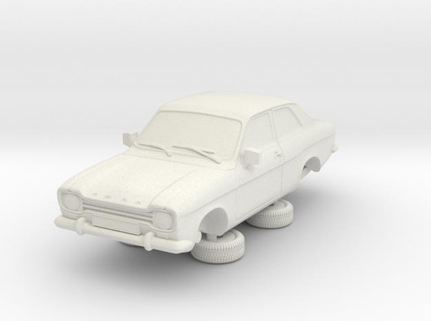 1-87 Escort Mk 1 2 Door Standard in White Natural Versatile Plastic