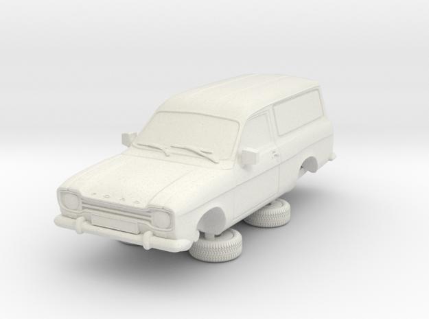 1-87 Escort Mk 1 2 Door Van in White Natural Versatile Plastic