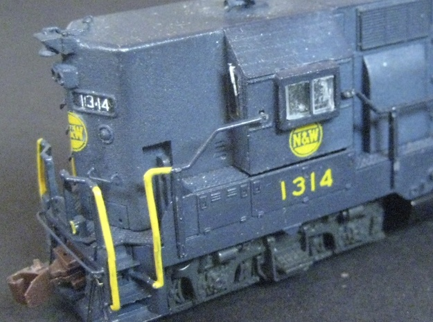 N Scale GP35 High Hood for N&W, SOU, and W&LE in Frosted Extreme Detail