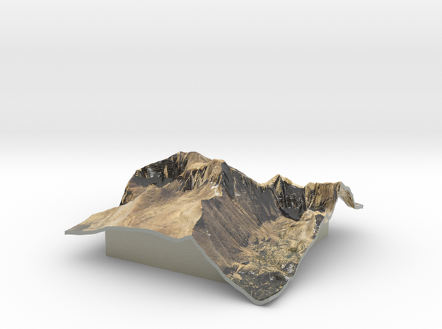 Longs Peak Map in Glossy Full Color Sandstone