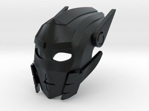 Toa Sameri's Kanohi Mask of Adaptation in Black Hi-Def Acrylate
