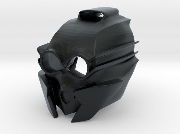 Kanohi Mask of Sensory Aptitude (Revised) in Black Hi-Def Acrylate