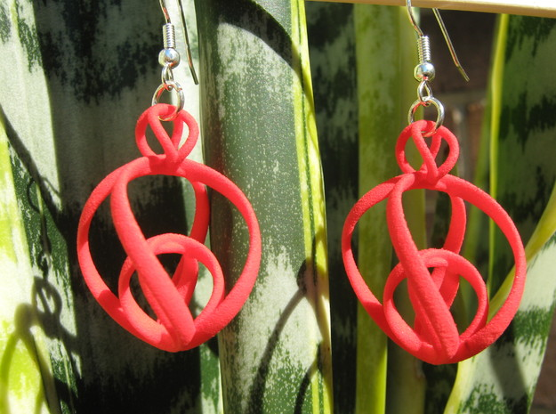 Clelie 1x2 Earrings in Red Processed Versatile Plastic