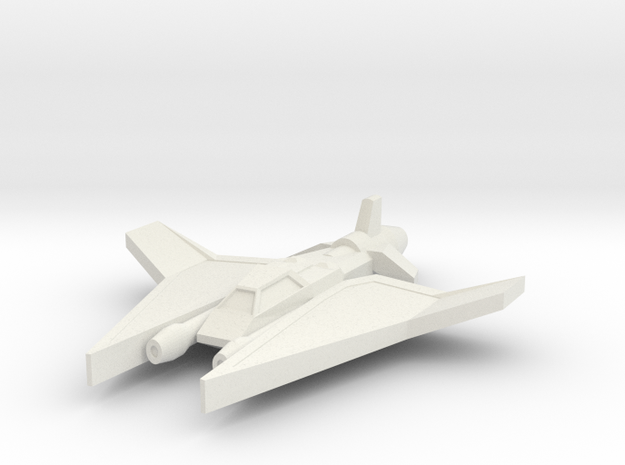 Cerebus Superiority Fighter in White Natural Versatile Plastic