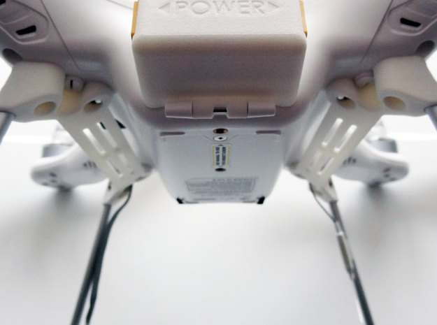 DJI Phantom Wide Battery Landing Gear 3d printed DJI Phantom Wide Battery Landing Gear detail view