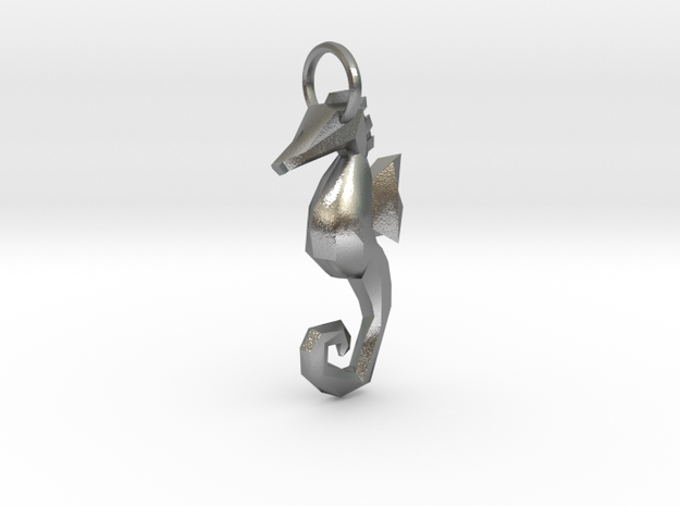 Seahorse low poly pendant