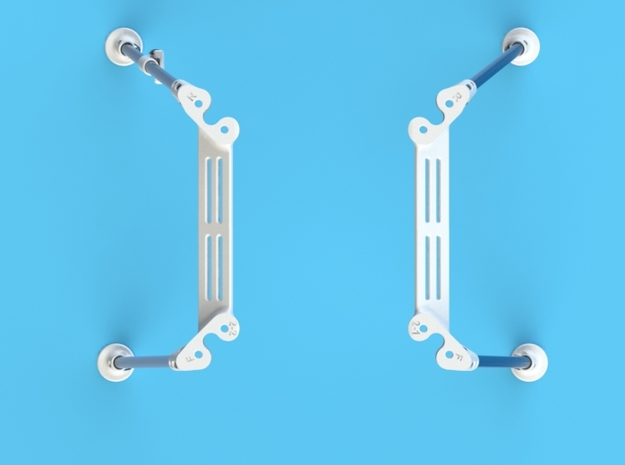 DJI Phantom Wide Battery Landing Gear 3d printed DJI Phantom Wide Battery Landing Gear top view