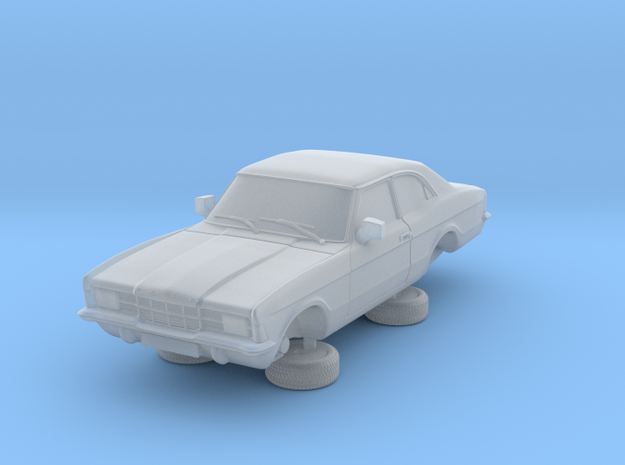 1-76 Ford Cortina Mk3 2 Door Standard Square Hl in Smooth Fine Detail Plastic