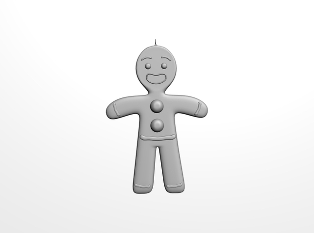 Gingerbread man tree decoration 3d printed Gingerbread man