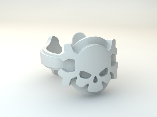 My Skull Ring Design Ring Size 6.75 in Polished Brass