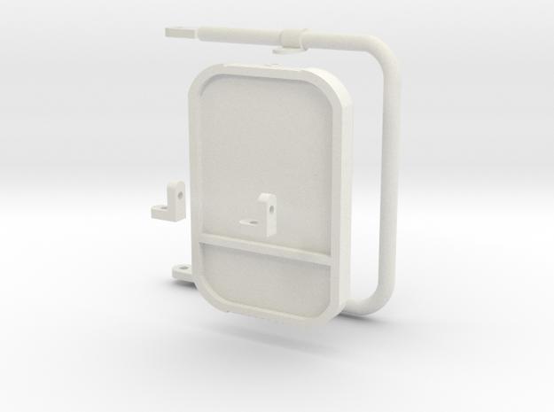 1:6 scale Hasbro HMMWV  Passenger mirrors in White Natural Versatile Plastic