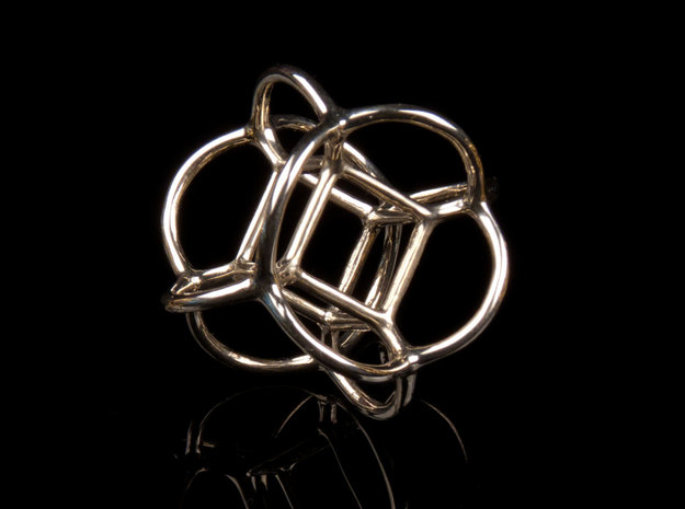 Soap Bubble Cube (from $12.50) in Polished Silver: Small