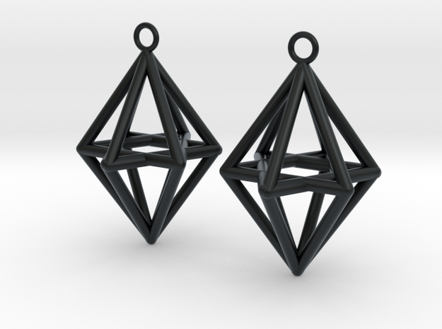 Pyramid triangle earrings type 14