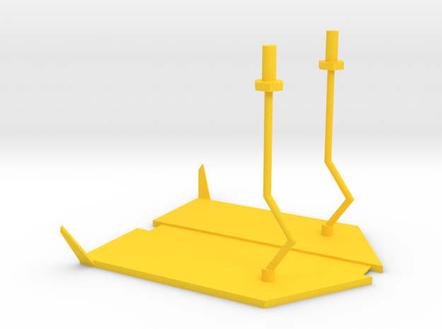 lost marbles robot skiff in Yellow Strong & Flexible Polished