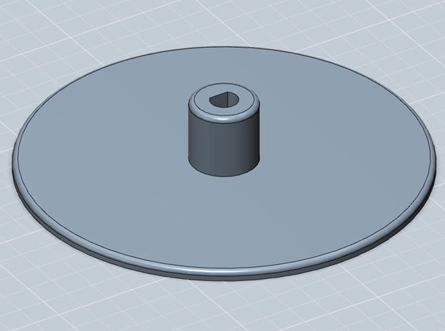 Film Plate : Super8 format for 50 foot spools 3d printed 3D model of the feed/take-up plate. An essential component for your DIY telecine or film scanner project.