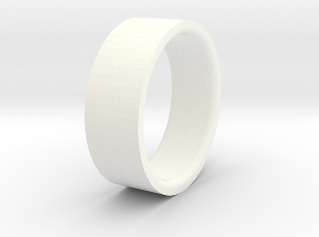 Beadlock ring 52 mm D90 D110 1:10 3/3 in White Processed Versatile Plastic
