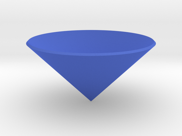 Cone: Small in Blue Strong & Flexible Polished