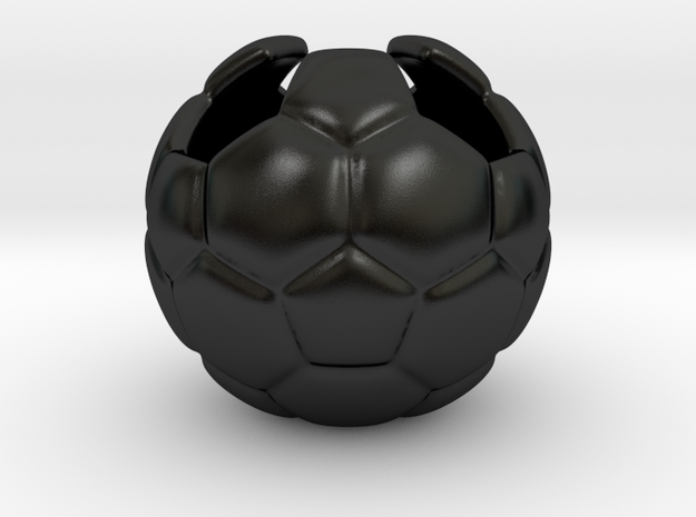 Football (Soccer) Planter in Matte Black Porcelain